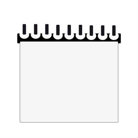 writing pad: Writing book on white background. Vector illustration. Illustration