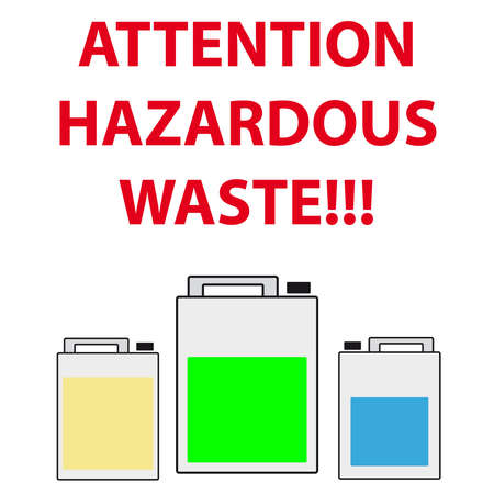 hazardous waste: Barrel of hazardous waste on white background. Vector illustration.