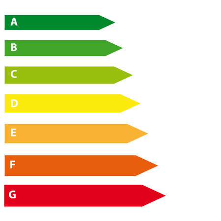 Energy labels on white background. Vector illustration Illustration