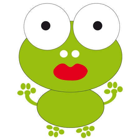 red eyed tree frog: Frog on white background. Vector illustration.