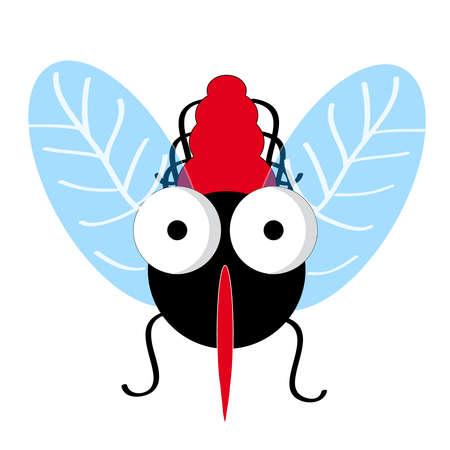 Mosquito on white background. Vector illustration. Illustration