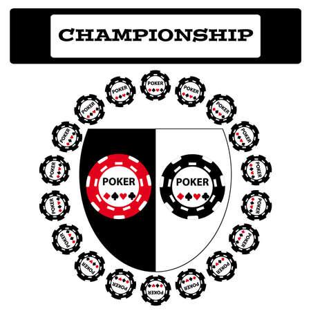 Simbolo Poker su sfondo bianco Vettoriali