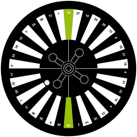 american roulette: American roulette on white background. Vector illustration. Illustration
