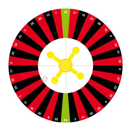 American roulette on white background. Vector illustration. Illustration