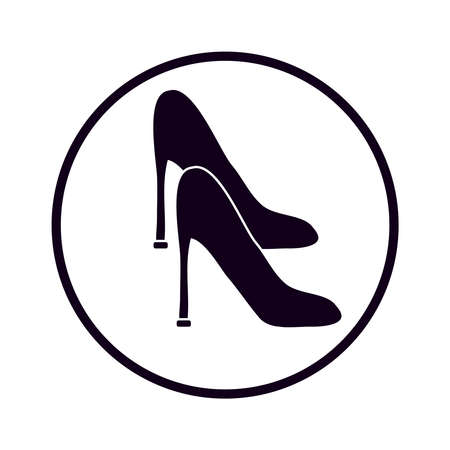 footwear: Womens shoe on white background. Vector illustration. Illustration