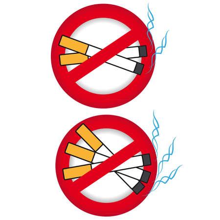 No smoking symbol on white background. Vector illustration. Illustration