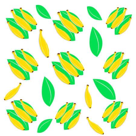 Bananas on white background. Vector illustration.
