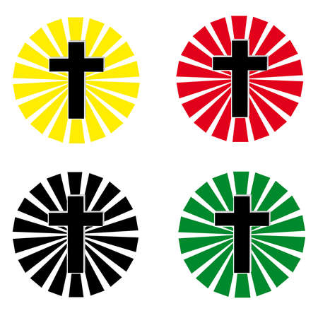 crosses: Cross on white background. Vector illustration.
