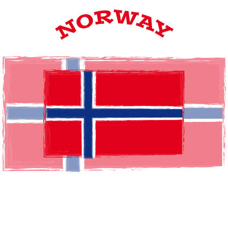 norway flag: Norway flag on white background. Vector illustration.