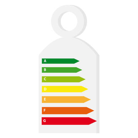 Energy labels on white background. Vector illustration.