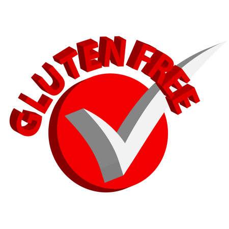 intolerancia: Símbolos sin gluten 3D sobre fondo blanco. Ejemplo del vector Vectores