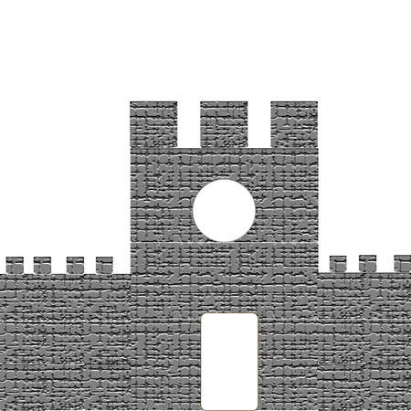 Castle isolated on white background.