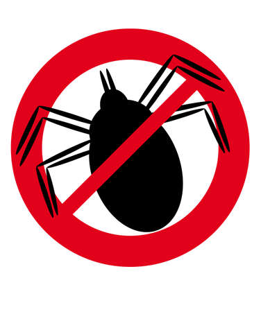 No tick isolated on white background. Vector illustration.