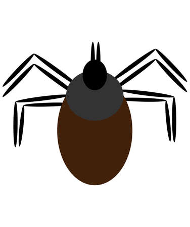 Tick isolated on white background. Vector illustration.