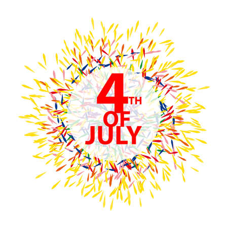 4 th of july symbol isolated on white background. Vector illustration.