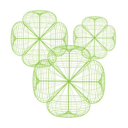 Cloverleaf isolated on white background. Vector illustration. Illustration