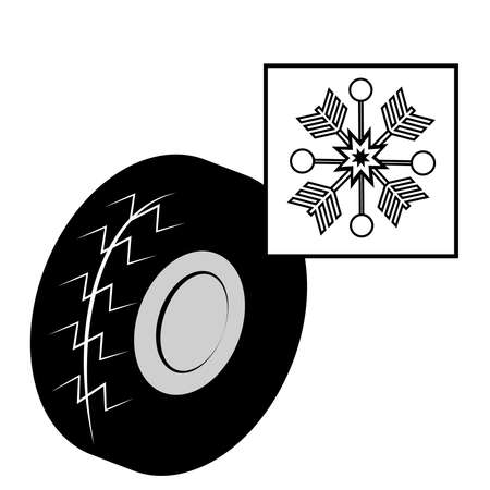 Winter Tires And Snowflake Royalty Free Cliparts Vectors And Stock