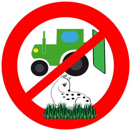 The symbol does not kill the animal during the harvest. Vector illustration.