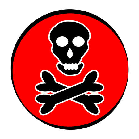 hazard: Symbol for marking toxic poisoning. vector illstration.