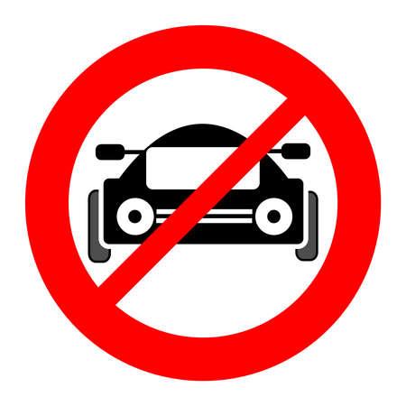 No car symbol isolated on white background. Vector illustration.