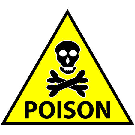 Symbol for marking toxic poisoning. vector illstration.