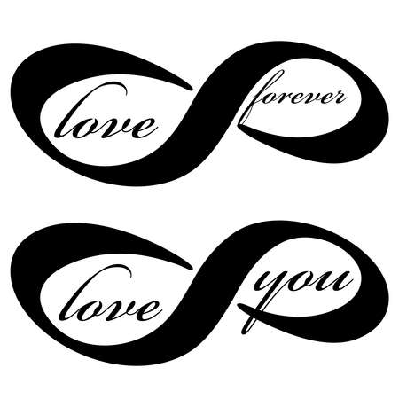 Forever love icon isolated on white background. Vector illustration. 向量圖像