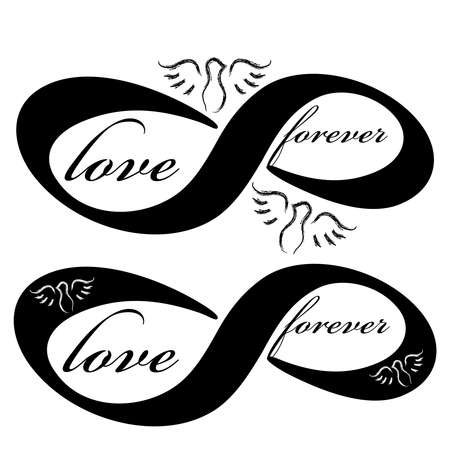 Forever love icon isolated on white background. Vector illustration.