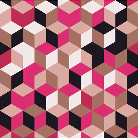 Abstract colorful geometric background, illustration of cubic shapes.