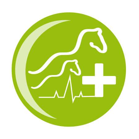 Horse health symbol on white background. Vector illustration. Stock Photo