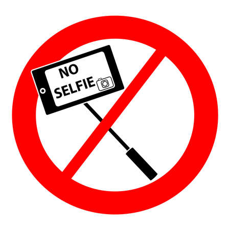 No selfie symbol isolated on white background. Vector illustration.