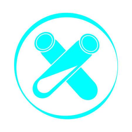 Test-tube icon isolated on white background. Vector illustration.