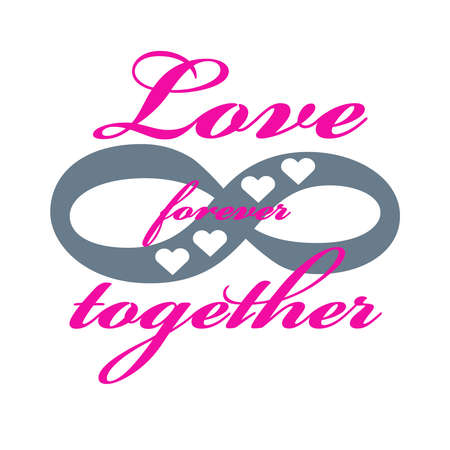Forever love icon isolated on white background. Vector illustration