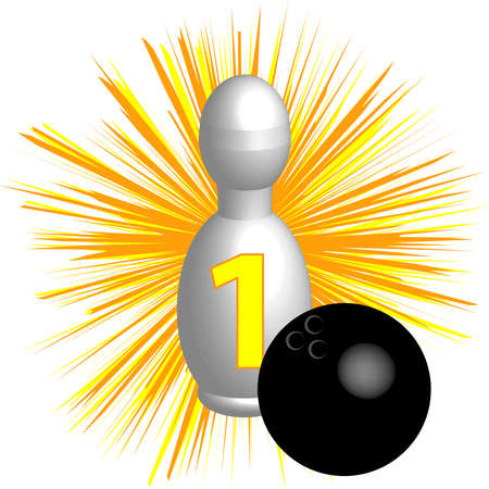 Bowling symbol illustration.