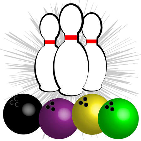 Bowling symbol isolated on white background. Vector illustration
