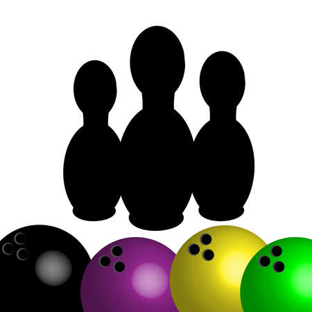 spare: Bowling symbol isolated on white background. Vector illustration