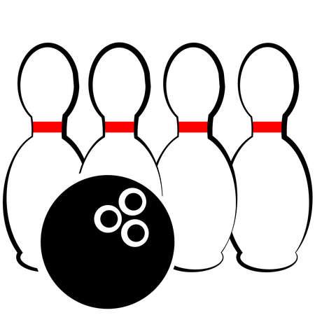 Bowling symbol isolated on white background. Vector illustration.