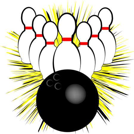 Bowling symbol isolated on white background. Vector illustration
