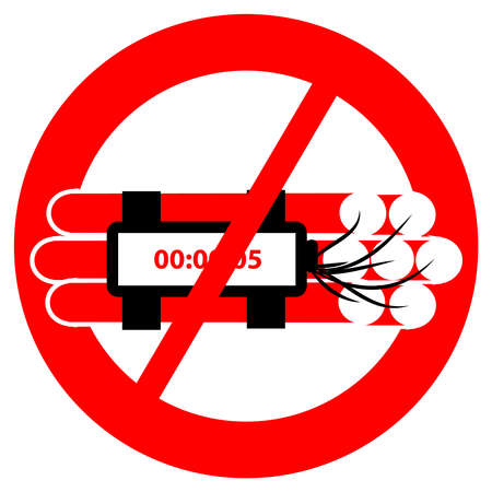 No explosives symbol isolated on white background. Vector illustration.