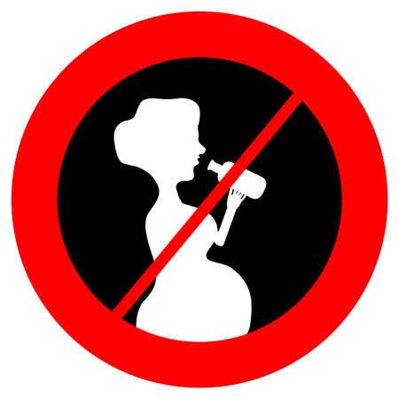 No alcohol for pregnant women symbol. Vector illustration. Ilustração