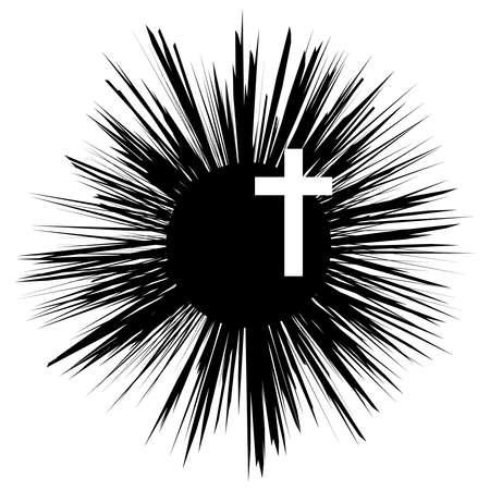 Christian cross. Faith and religion. Vector illustration Illustration