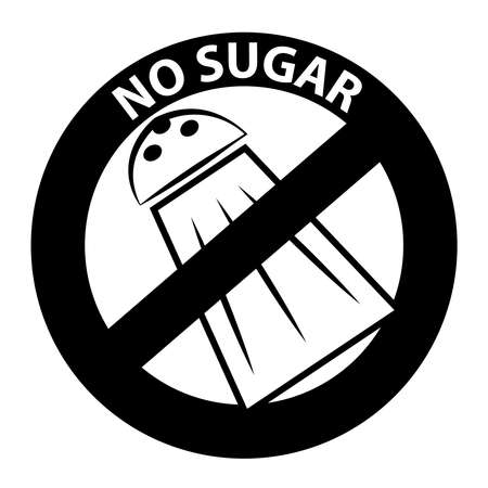 No sugar symbol isolated on white background.