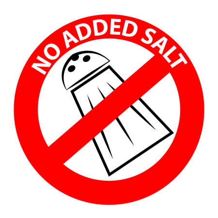 No added salt symbol isolated on white background. Vector illustration.