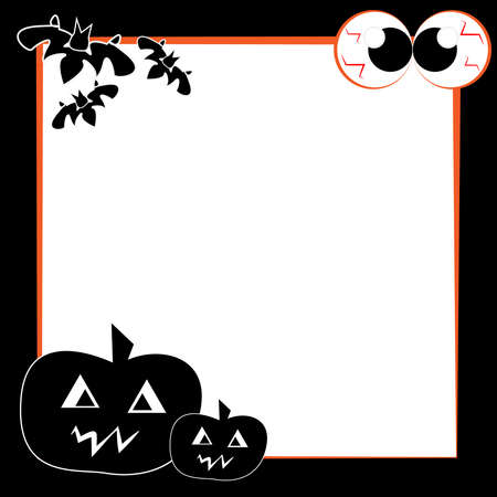 Funny halloween card isolated on white background. Vector illustration.