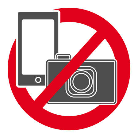 No camera and mobile phone  symbol Иллюстрация