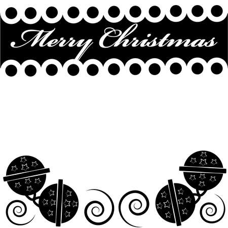 Jingle bells with text - Merry christmas isolated on white background.