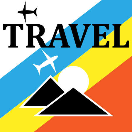 Travel - sign and symbols for traveling.