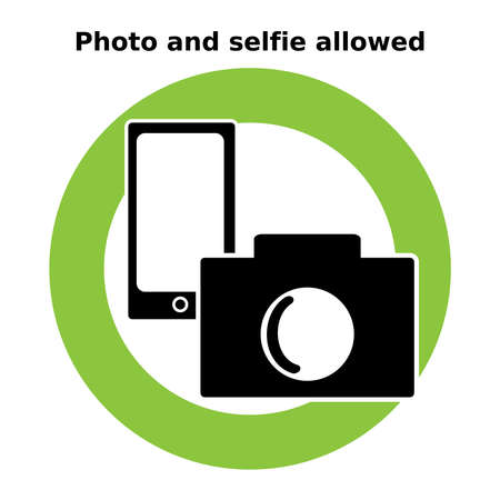 Icon photo and selfie allowed. Signs and symbols