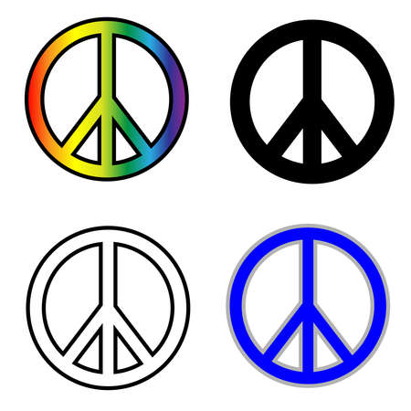 Peace symbols  isolated on white background - sign and symbols Фото со стока
