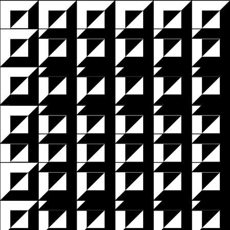 Abstract background, black and white color, square and triangl