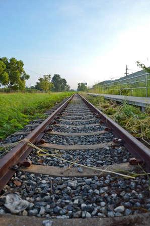 Railway with sunday morning